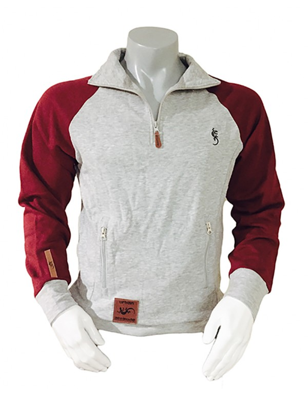 UAS022-MENS FLEECE MOCK NECK