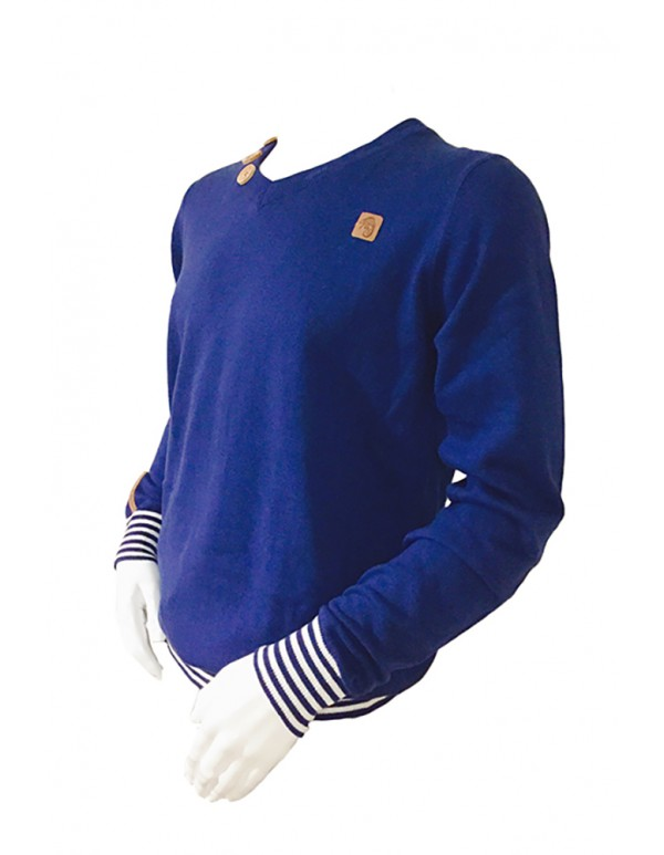 UTSW01-MENS SPRING BUTTON NECK SWEATER
